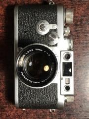 徕卡Leica iiig胶片相机带佳能50/1.8镜头