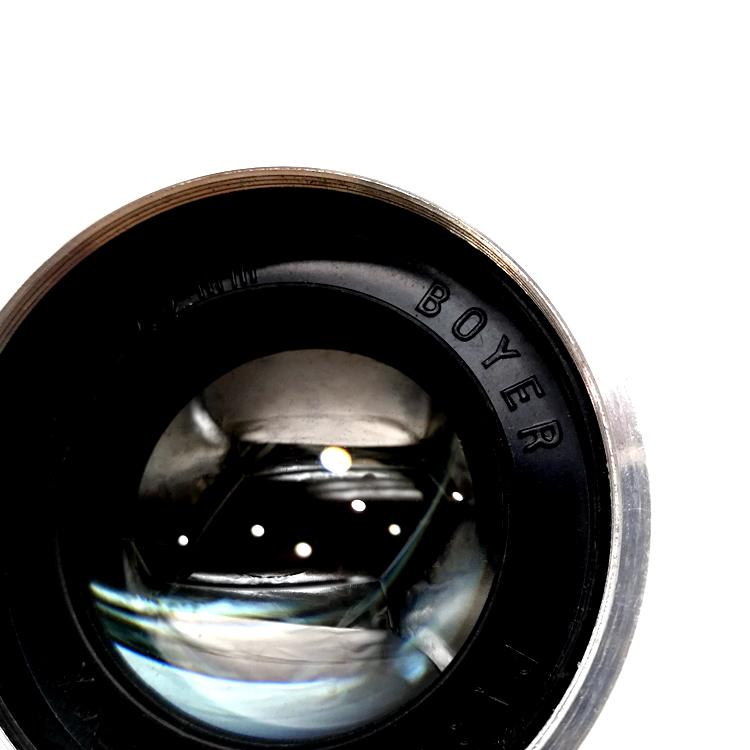 法国 博雅 BOYER 100/2.8 放映镜头 已中置光圈和改口 带试片参考