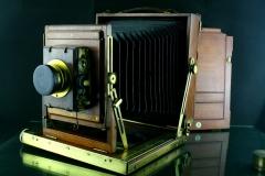 18313---古典英国百年木质6寸专业大画幅相机