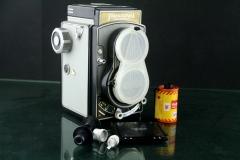 19045---经典的捷克双反相机带135附件