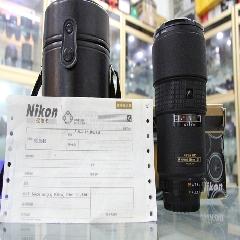 0252#尼康180-2.8D中长焦定焦镜头全画幅镜头,原装盒套皮筒