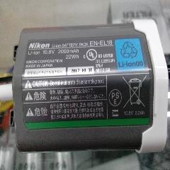 尼康EN-EL18 原装电池 尼康D4/D4S专用电池 全新