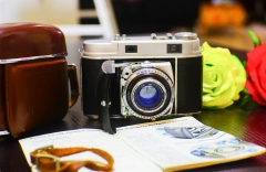 (868元九成新)柯达KODAK RETINA IIC旁轴相机+罗敦HELIGON红C镜头 箱说齐全