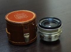(稀少)1480元德国恩娜ENNA白银35mm/f:2.8白银镜头,配原厂皮套