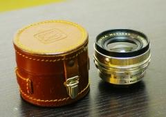 9成新左右德国ENNA恩娜公主白银镜头ENNA  35mm/f2.8,原装镜头皮桶