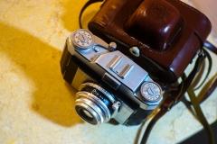 9成新左右法国ROYER 旁轴相机,配索姆SOM BERTHIOT50mm/2.8,原装皮套