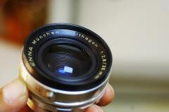 9成新左右德国ENNA恩娜白银镜头ENNA 35mm/f2.8,成像优秀