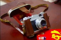(故障机)法国FOCA旁轴相机SPORT II,镜头4.5cm/2.8良好 ,原装皮套