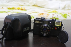 富士FUJITCA FLASH旁轴相机,原厂皮套,可正常拍摄