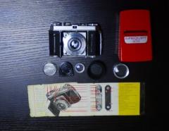 美国柯达KODAK RETINA 1A旁轴相机小全套,可正常拍摄,带说明书