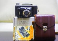 安琴105mm/4.5+柯达620中画幅Kodak modèle 34中画幅相机,带说明书皮套盒子