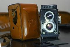 法国SEMFLEX 6X6双反相机,带原厂皮套片夹可以正常拍摄