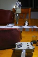 885元安琴镜头+索姆镜头+法国CAMEX 8MM电影机全套一机两镜,说明书及手柄,皮袋