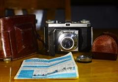 885元安琴ANGENIEUX镜头50mm/3.5+柯达雷丁娜1A,皮套,B+W滤镜+资料