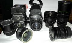 较新俄罗斯基铺88(6X6CM)胶片相机+2个取景器+4颗镜头+接圈+2倍镜