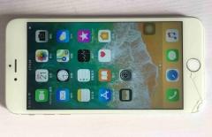 苹果6P手机(一边角摔裂)