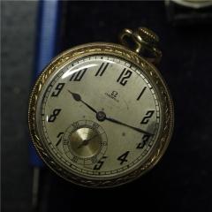 1905年 欧米伽 OMEGA 14K 精美雕花 金怀表