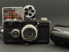战前蔡司 ZEISS CONTAX 1型 五眼取景器 镍版天塞Tessar 50/3.5