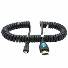 松下GH4 GH5 A7S2 5D4/3 GOPRO6/5/4 BMPCC专用高清HDMI线 弹簧线