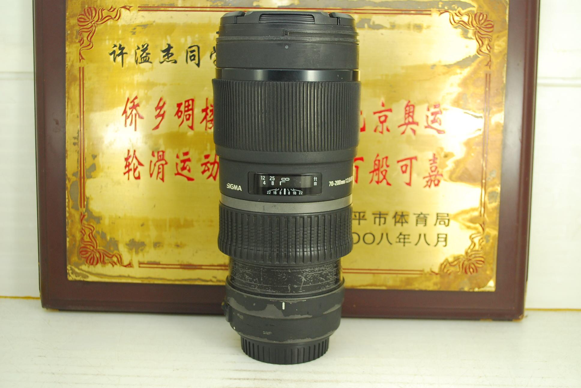 佳能口 适马 70-200 F2.8 APO HSM 小黑二代 单反镜头 恒圈长焦人像