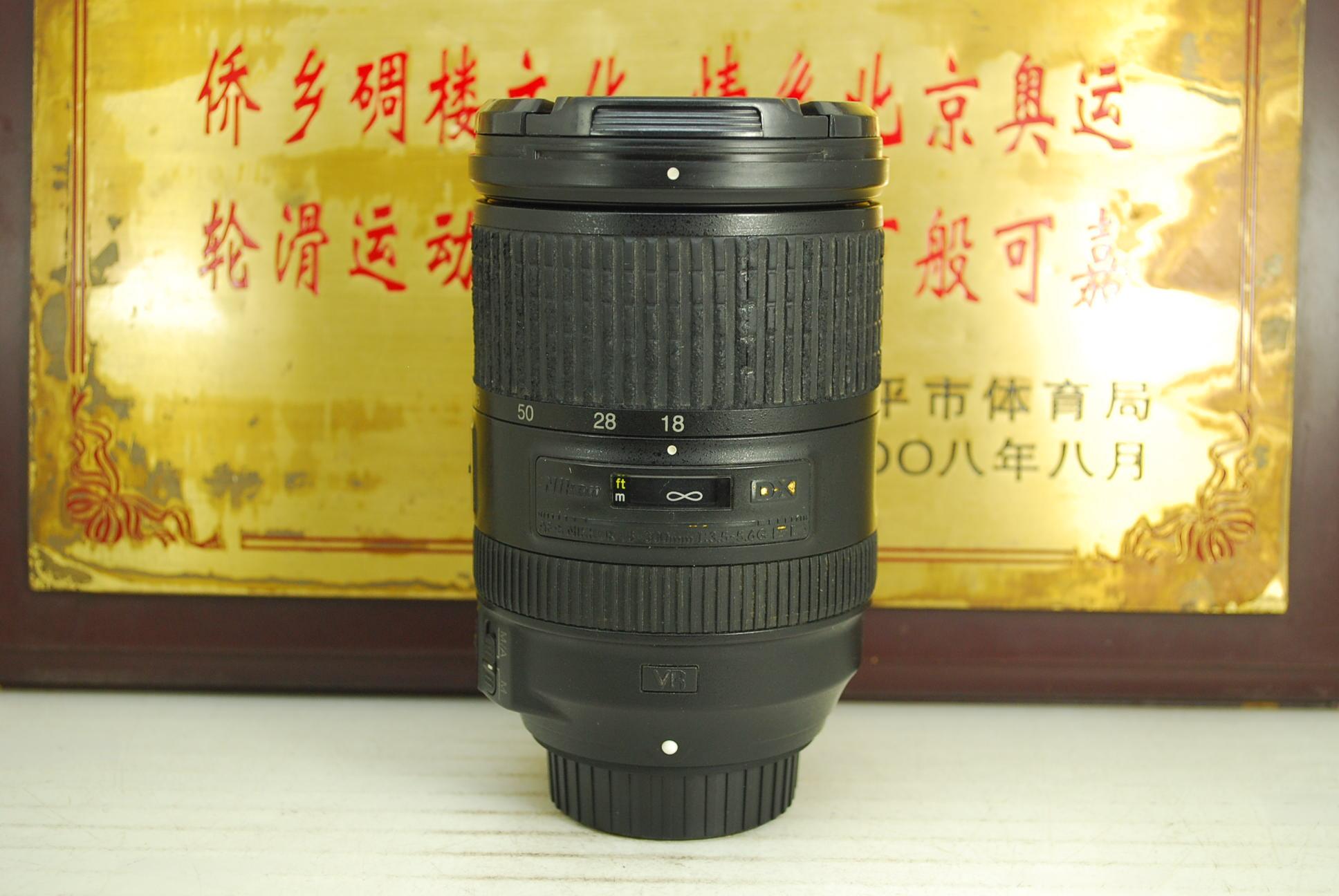 尼康 18-300 F3.5-5.6G VR 一代 77mm 单反镜头 防抖 一镜走天下