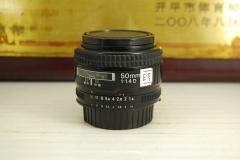 尼康 50mm F1.4D AF 单反镜头 超大光圈 专业定焦人像标头 出片好