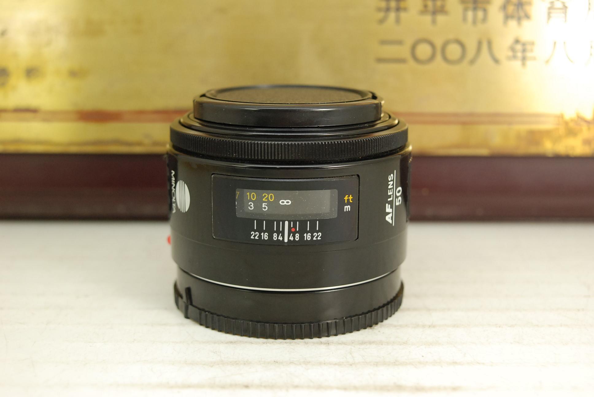 95新 索尼单反a口 美能达 50mm F1.7 AF 单反镜头 大光圈人像标头