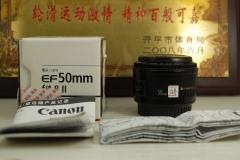 98新 佳能 50mm F1.8 II 小痰盂单反镜头 大光圈定焦人像性价比高