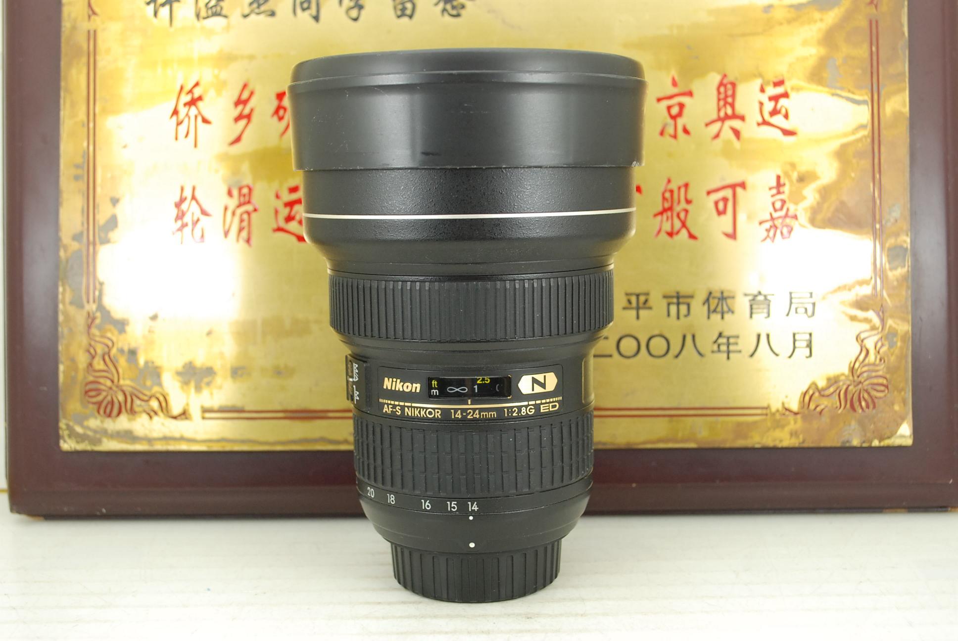 95新 尼康 14-24 F2.8G 大灯泡 单反镜头 恒圈 专业超广角 大三元