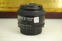 92新 尼康 50mm F1.4D AF 单反镜头 超大光圈 专业定焦人像标头 出片好