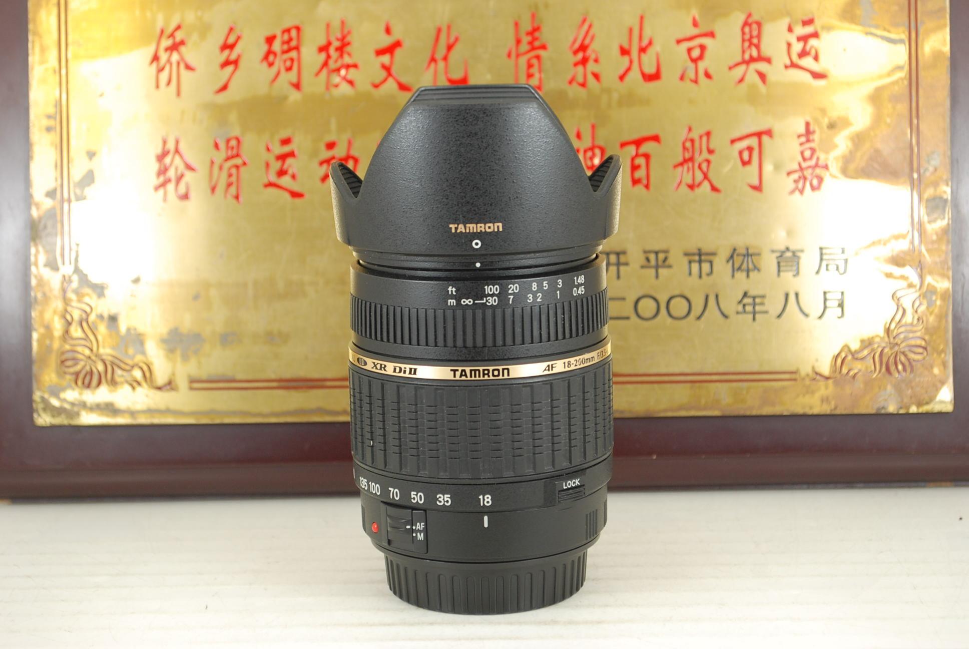 98新 佳能口 腾龙 18-200 F3.5-6.3 A14 Macro 单反镜头一镜走天下旅游