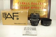 97新 尼康 85mm F1.8D 单反镜头 大光圈定焦远摄人像牛头 出片好