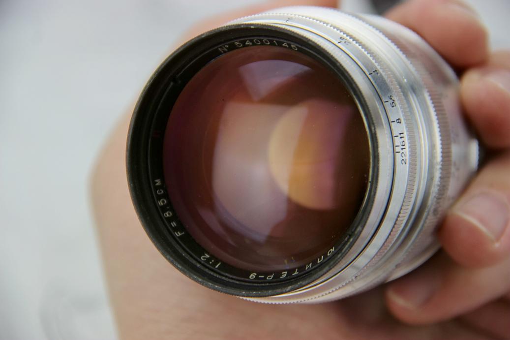 前苏联 俄罗斯 稀有 1954年 尤比杰尔 9 白银红N版 L39口 镜头