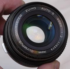 奥林巴斯 OM 40mm 1:2 镜头 95新 完美 很少见的饼干头