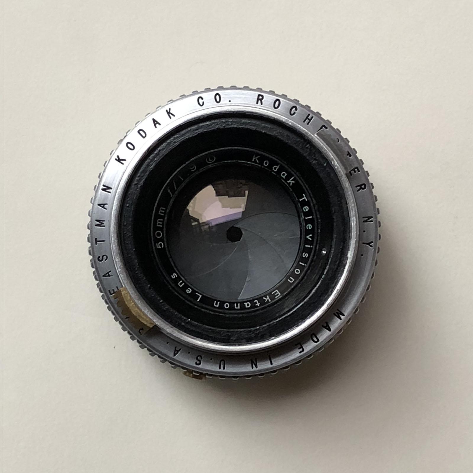 柯达电视镜头 Kodak Television Ektanon Lens 50mm f/1.9