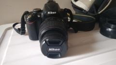 尼康D5000单反相机 原装18-55ed镜头 配件全有卡有包