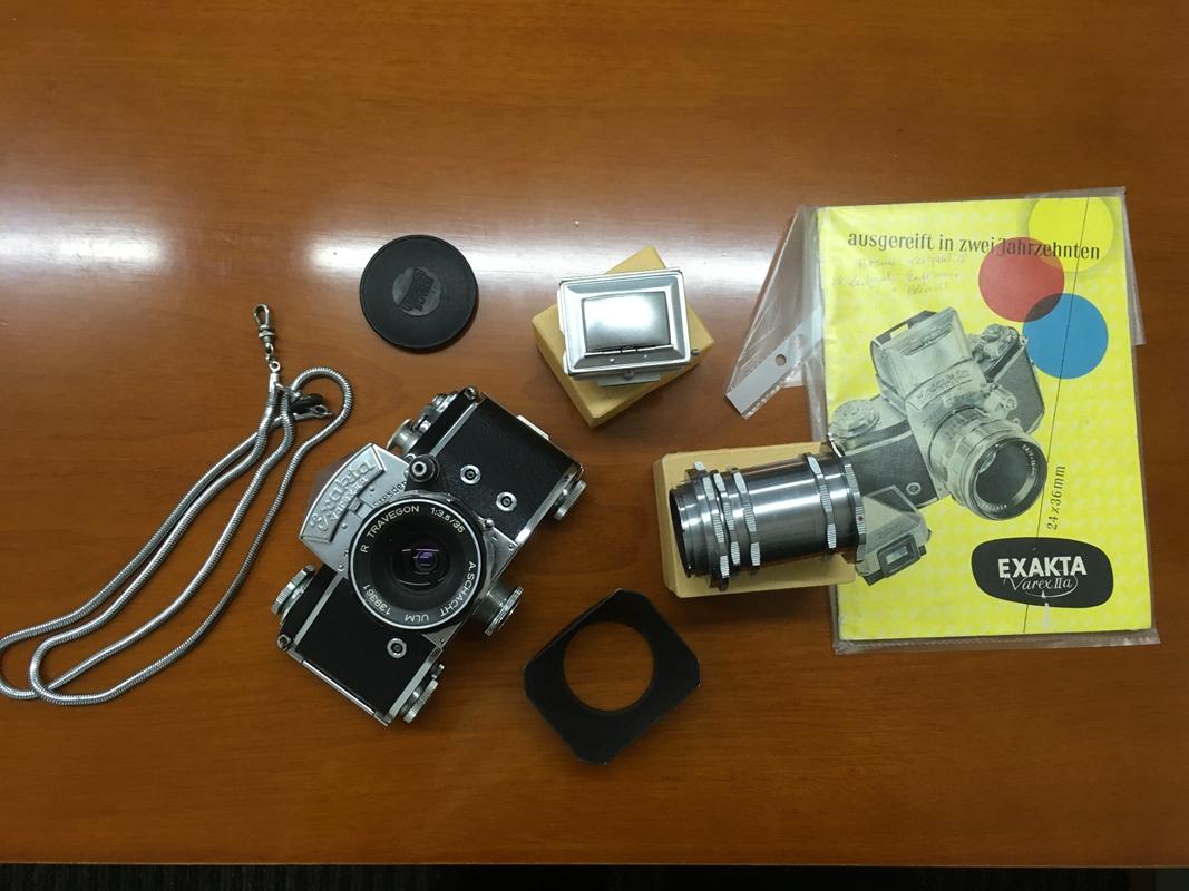 EXAKTA机身腰平、眼平、蛇链等配肖特35F3.5镜头一套