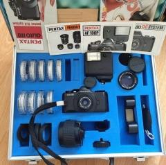 宾得110相机 一机三镜 金属手提箱