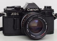 佳能 AE-1 胶卷单反相机+ 50mm 1:1.4 S.S.C 镜头