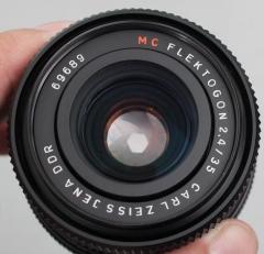 蔡司 35mm 1:2.4 镜头 M42口 广角大光圈微距 三剑客 军刀