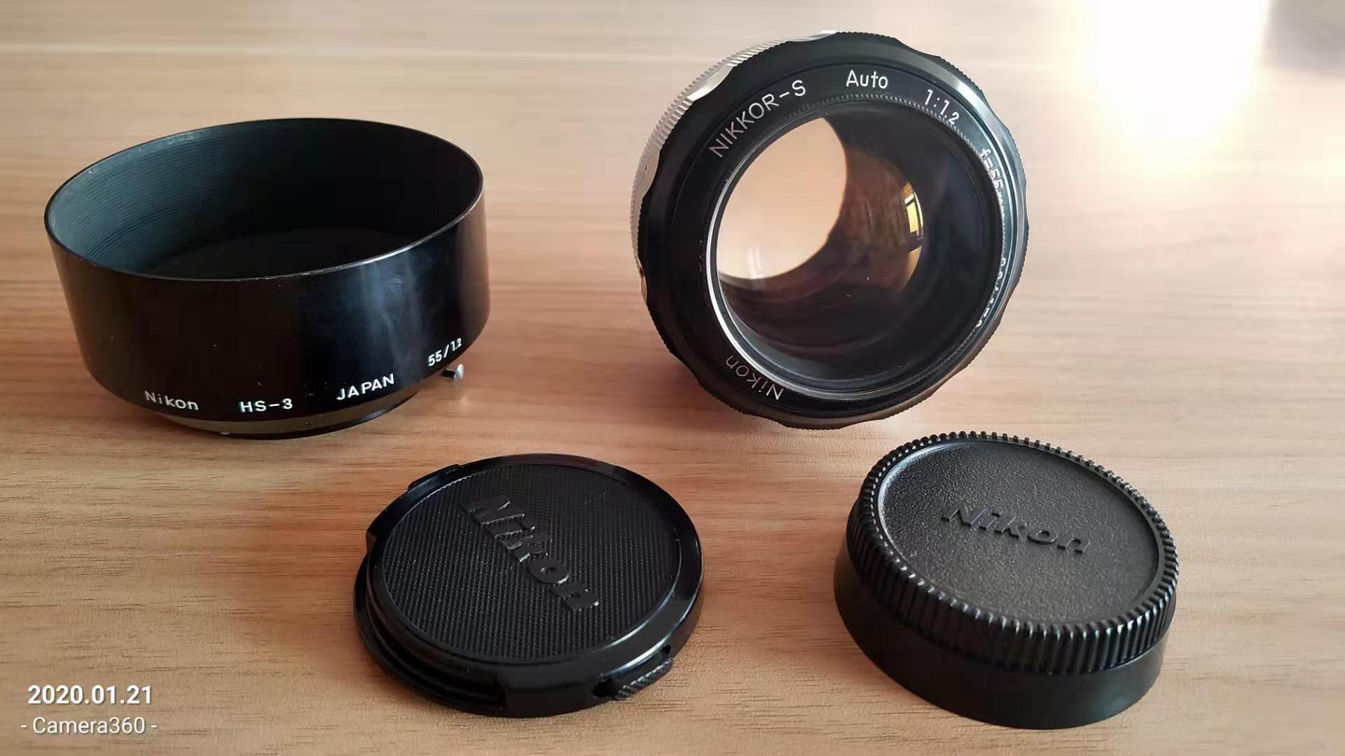 Nikon NIKKOR-S AUTO 55/1.2