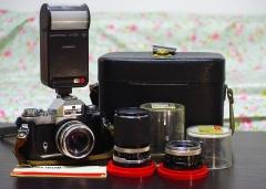 2288蔡司依康ZEISS IKON ICAREX相机一机三镜+闪光灯+皮箱
