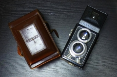 765元法国KINAFLEX双反(含SOM75/3.0+75/3.5镜头),机身小巧带皮套