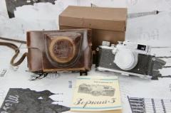 苏联 俄罗斯 仿莱卡 1955年 卓尔基 3 机型 红N头 大全套 相机