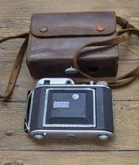 稀少英国军旗Ensign Auto 220折叠皮腔120相机蔡司Zeiss Teaser镜头