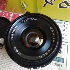 玛米亚23新闻机使用的50毫米6.3的镜头